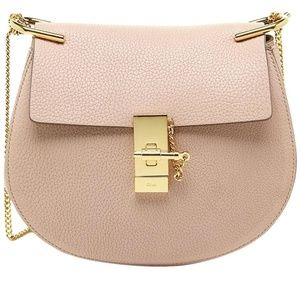 Chloé Drew Cement Pink Leather Shoulder Bag